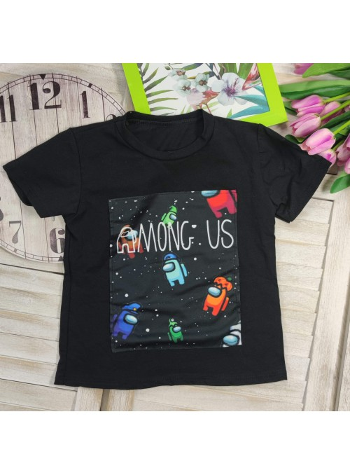 T-shirt AMONG czarny