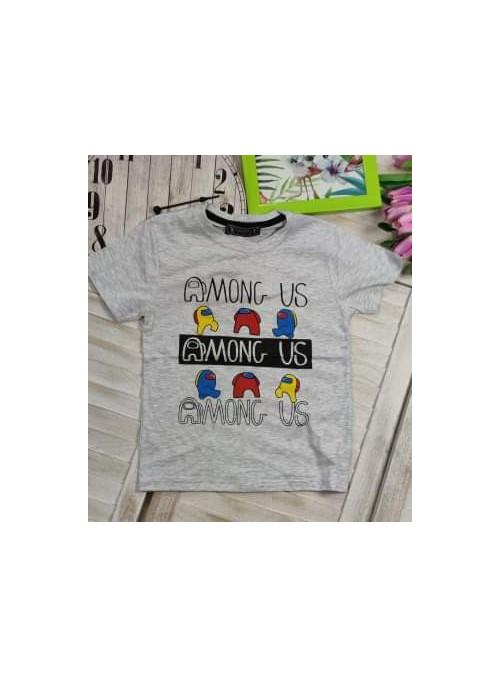 T-shirt AMONG szary