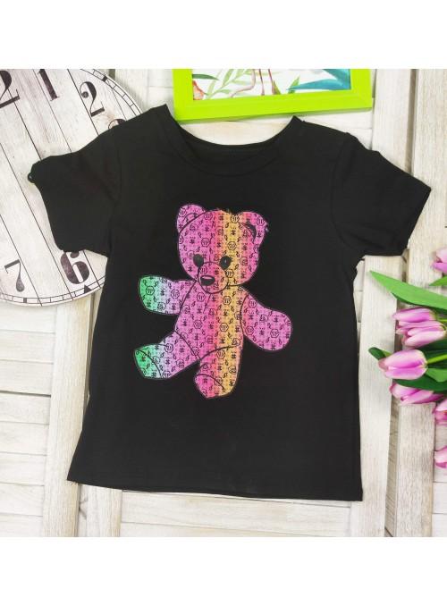 T-shirt MIŚ kolorowy CZARNY