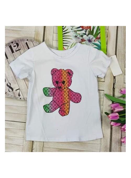 T-shirt MIŚ kolorowy BIAŁY
