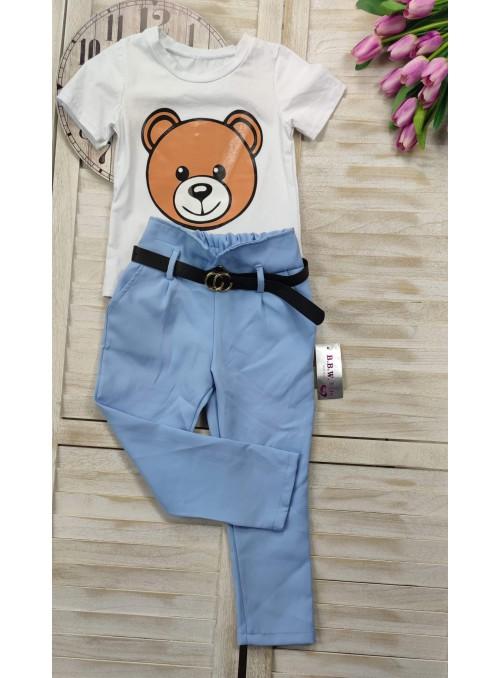 Spodnie baby blue 7/8 z...