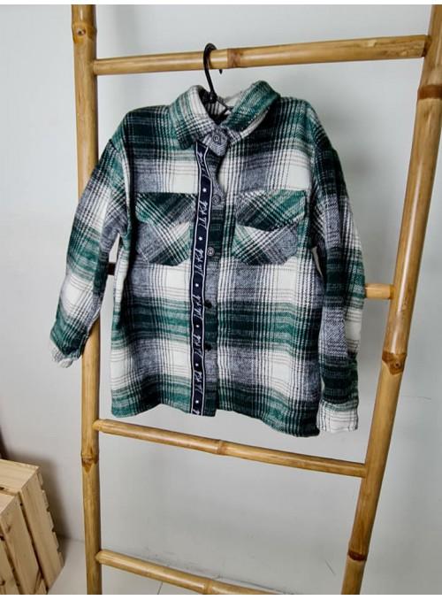 Koszula w kratę ZIELEŃ