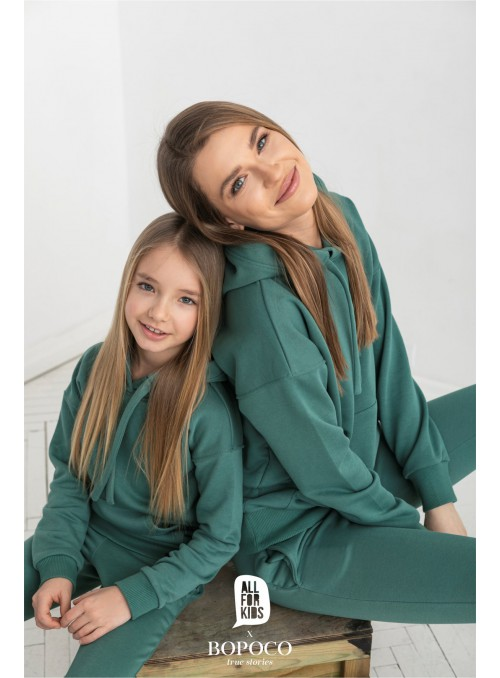 Dres zieleń Mama&córka