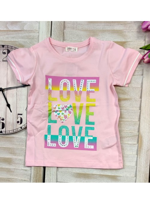 T-shirt LOVE puder