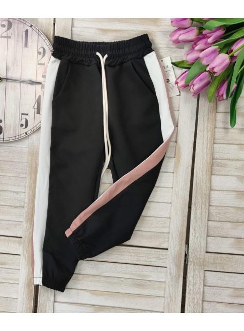 Spodnie dresowe lampas czarne