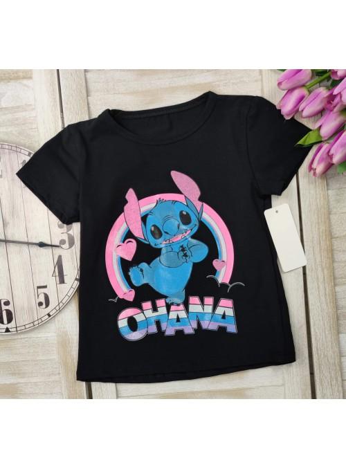 T-shirt STITCH czarny