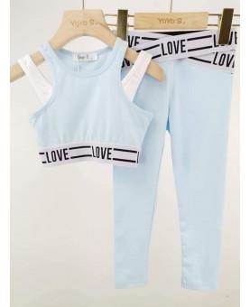 Komplet LOVE błękit