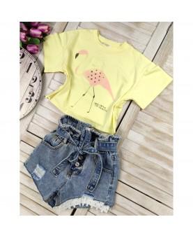 T-shirt Flaming żółty